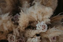 Pampas Grass and Roses - Wedding Florals
