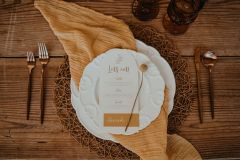 Wedding Place Setting - Mustard and White