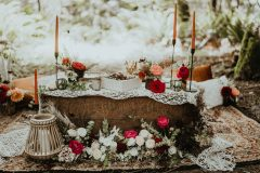 Rust, Red and Macrame Boho Forest Elopement