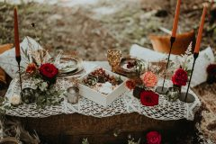 Boho. Table-scape - Rust, White and Red.