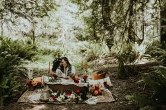 Elopement picnic in the Forest of Victoria BC