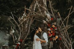 Stick Arch in Forest - Wedding Ceremony