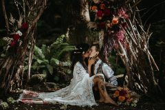 Forest Ceremony with Twig Arch and Flowers
