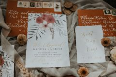 Rust and Floral Wedding Stationery