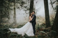 Wedding Couple at forest venue