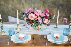 Blue Boho Sweetheart Table