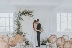 Romantic Wedding Ceremony - Greenery Arch