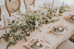 Romantic Wedding Table Set up - Blush and White