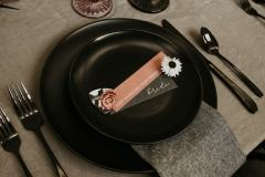 Moody Place Setting with guitar pick