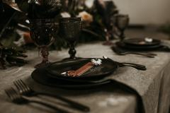 Charcoal Moody Wedding and Event Place Setting