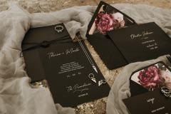 Black and Pink Stationery