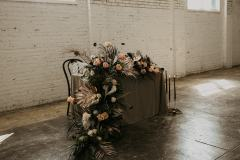 Sweetheart Table Floral waterfall