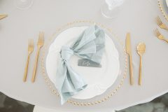 Gold Place Setting - Wedding