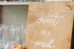 Sweet as a Peach Wedding Signage