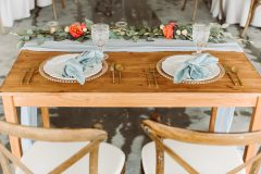 Wood Sweetheart table